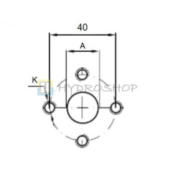 Flantsid 40mm , EURO standart
